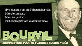 Bourvil - La tactique du gendarme - Paroles (Lyrics)