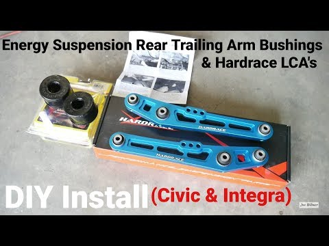 How to Install Energy Suspension Rear Trailing Arm Bushing Install | Project Civic Wagon Part 11