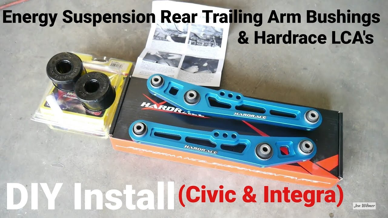 How to Install Energy Suspension Rear Trailing Arm Bushing | Project Civic  Wagon Part 11