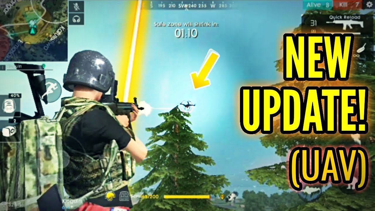 shooting down the uav new update free fire. Black Bedroom Furniture Sets. Home Design Ideas