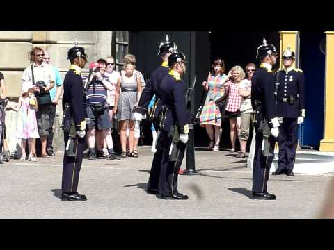 Small Guard Change at the Royal Palace in Stockholm