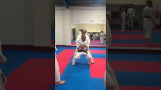 Escape from grab from behind and shoulder throw