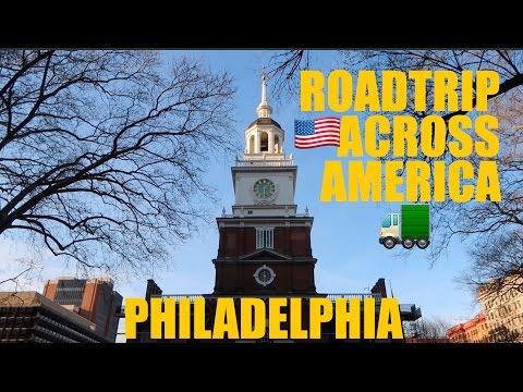 PHILADELPHIA, PA!!! FIRST 'TRIP ACROSS THE US' VLOG!