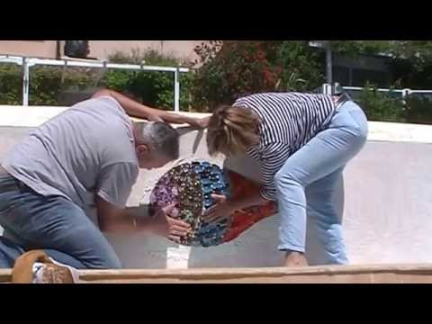Mur de d bordement de piscine en mosa que step 2 youtube - Prix mosaique piscine ...
