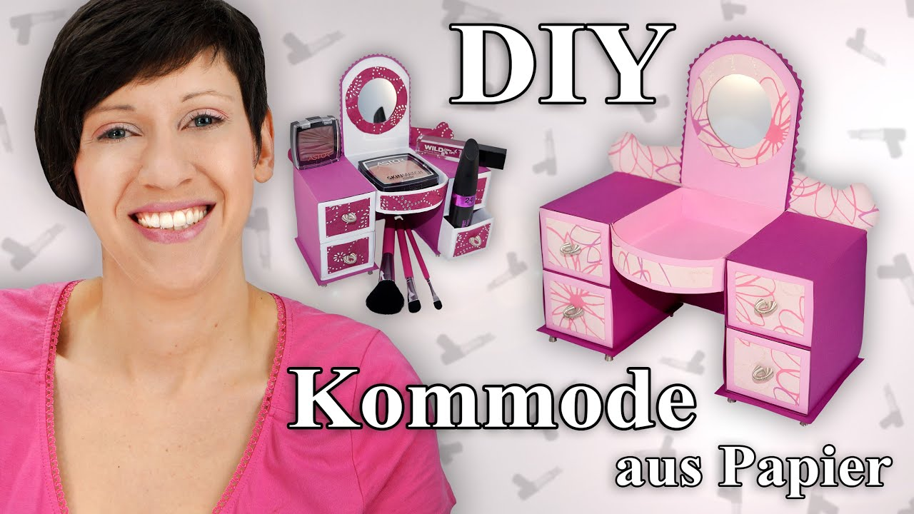 Kommode aus papier bastelanleitung youtube for Kommode lang