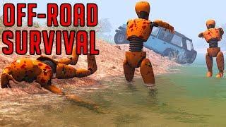 Off-Road Survival – Crash Test Zombies – BeamNG Drive | Demolition Republic