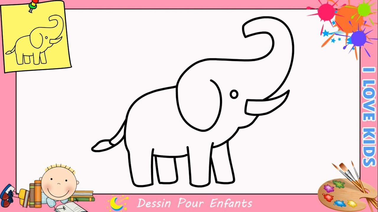 Comment dessiner un l phant facilement etape par etape - Comment dessiner le drapeau d angleterre ...