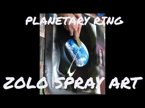 Spray paint art tutorial for beginners ITA\ENG SUB: planetary ring, elisse, anello pianeti