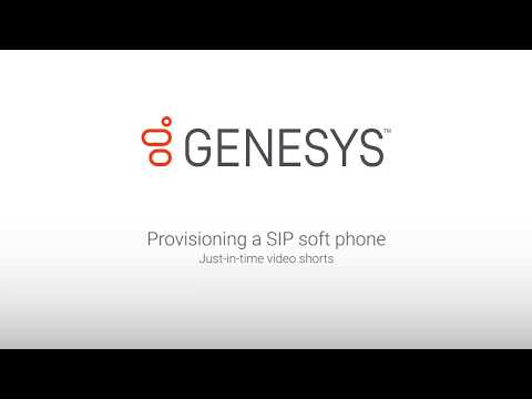 Genesys University: Provisioning a SIP Soft Phone in Interaction Administrator