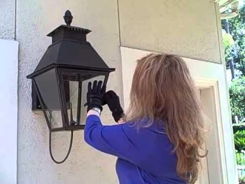 Gas Lantern Installation - Gas Lanterns and Lights on