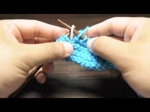 How To Knit Placing A Stitch Marker Youtube