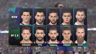 PES 2018 | NUEVOS ROSTROS PARA EL DLC 2.00 | Barcelona, Chicharito y más | COMPARACIONES thumbnail