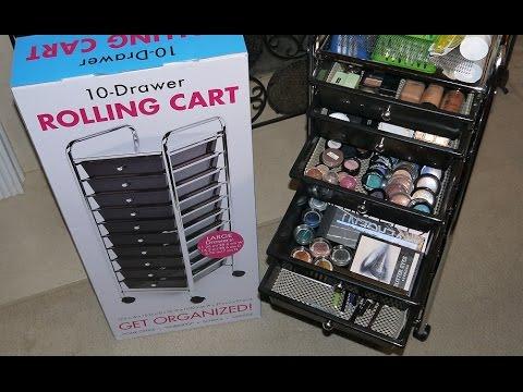 Seville 10 Drawer Rolling Multi-Purpose Cart/ Makeup Organizer $24.98