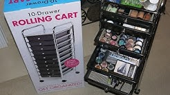 Seville 10 Drawer Rolling Multi-Purpose Cart/ Makeup Organizer $24.98