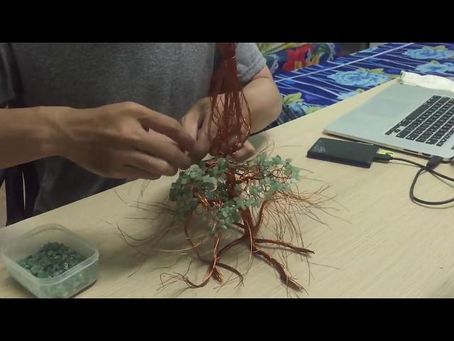 Мастер-класс — как сделать дерево счастья из бусин своими руками