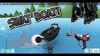 TSG Gaming: SWAT BOAT, RAYGUN e MINIGAME novo em SHARKBITE! (Roblox SharkBite)