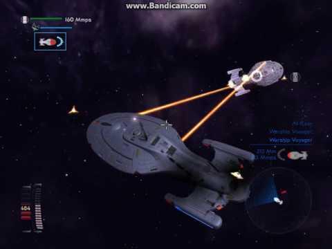 Star Trek Legacy - USS Voyager Vs Warship Voyager