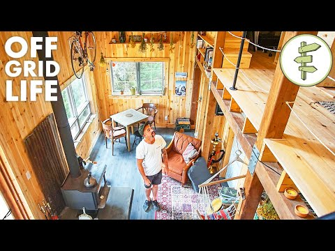 Man Living Off-Grid in His Incredible Self-Built Cabin
