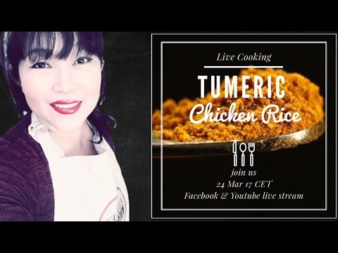 LIVE COOKING - TUMERIC CHICKEN RICE