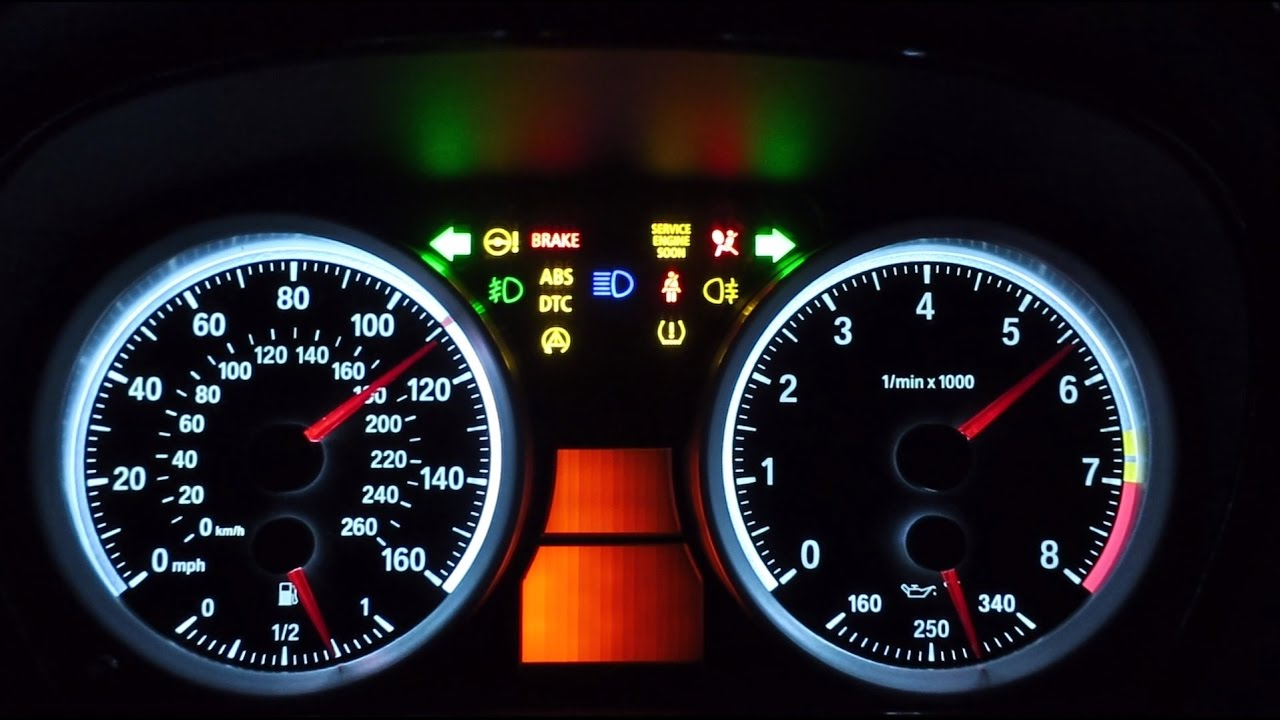 E90 Bmw 335i Gauge Test Converted To M3 Look Youtube
