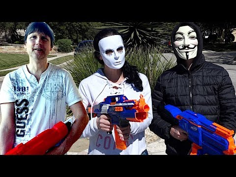 Mom And Dad Nerf Battle The Hacker!