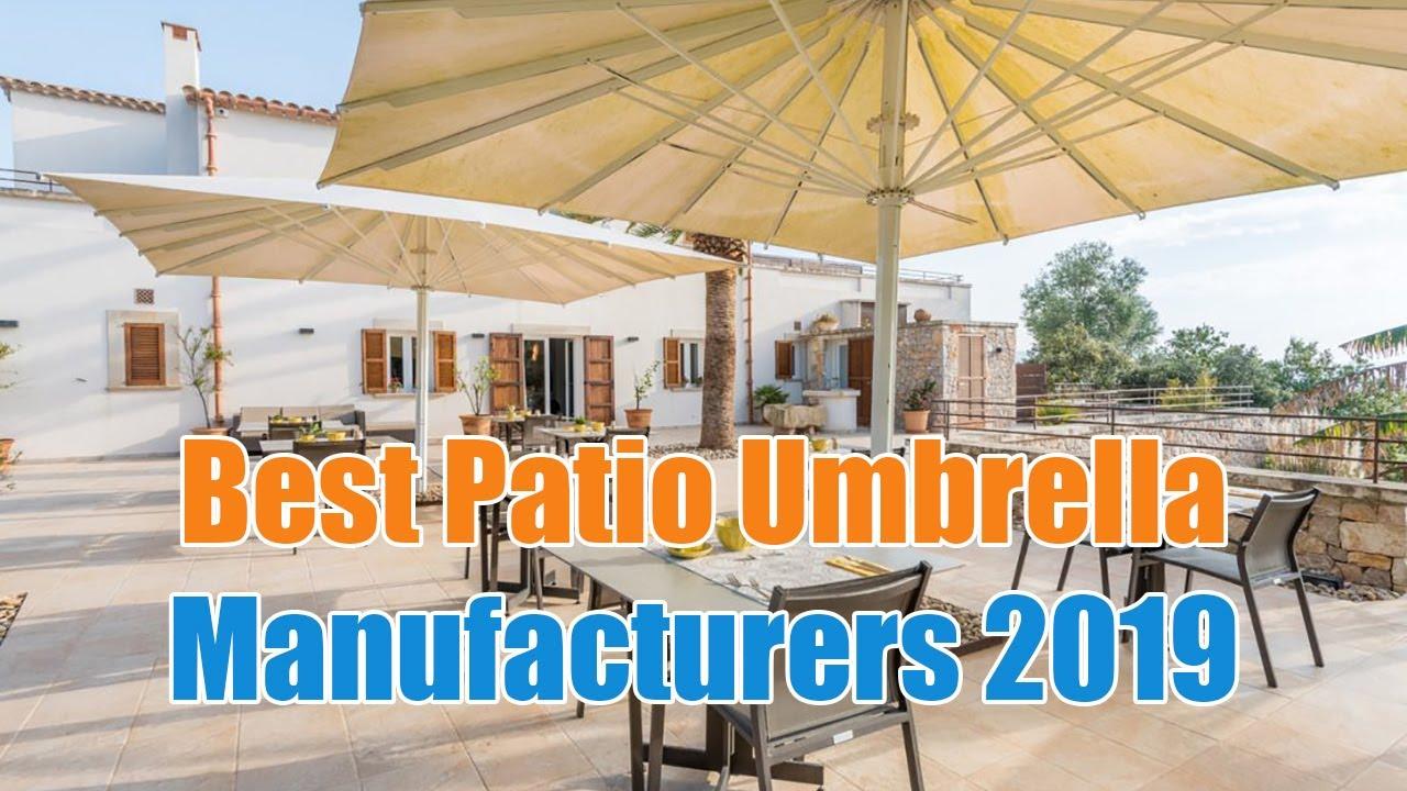 Best Patio Umbrella Manufacturers 2019   Top 4 Patio Umbrellas