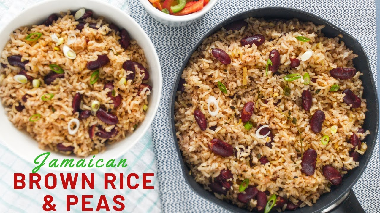 how to cook jamaican rice and peas from scratch  brown