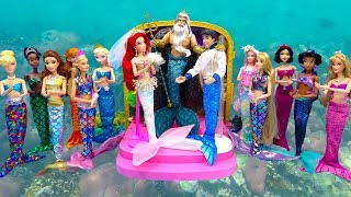Mermaid Ariel Wedding Ceremony Party Barbie Under the Sea Magical Dress Up Disney Princess