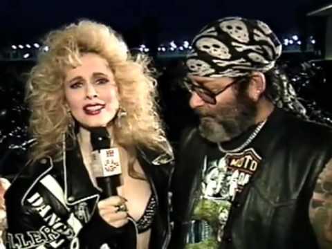 USA Up All Night 39 1991 Rhonda Shear Barbarian Queen visits Bike Week 16 Candles