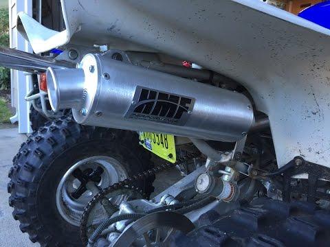 Yamaha Warrior 350 Full Hmf Performance Exhaust Youtube