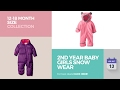 2nd Year Baby Girls Snow Wear 12-18 Month Size Collection