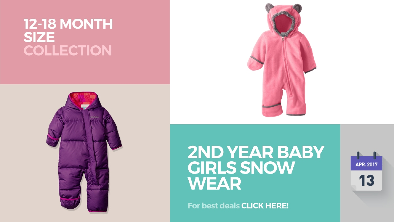 9d941c356 2nd Year Baby Girls Snow Wear 12-18 Month Size Collection - YouTube
