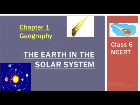 The Earth in the Solar System class 6 NCERT geography for UPSC/SSC
