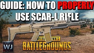 GUIDE: How to PROPERLY use the SCAR-L Assault Rifle in PLAYERUNKNOWN's BATTLEGROUNDS (PUBG)