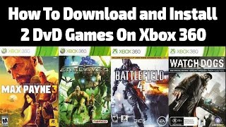 How to download and install 2 dvd games on xbox 360