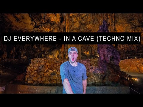 DJ EVERYWHERE - IN A CAVE (TECHNO MIX) WITH PIONEER DDJ RZ