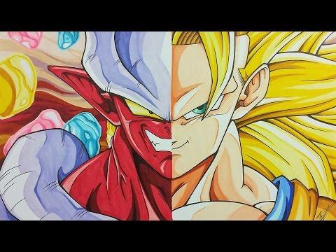 Drawing JANEMBA vs GOKU SSJ3 | Dragonball Z | TolgArt