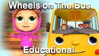 The Wheels on the Bus - Educational Nursery Rhymes with Baby Joy Joy thumbnail