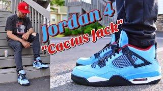 "HOW TO STYLE - AIR JORDAN 4 ""CACTUS JACK"" - TRAVIS SCOTT IV ON FEET"