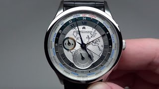 MAURICE LACROIX MASTERPIECE WORLDTIMER MEN'S WATCH REVIEW MODEL: MP6008-SS001-111