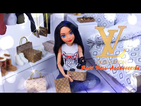 DIY - How to Make: Louis Vuitton Style Doll Accessories | Bags | Boxes | Purse