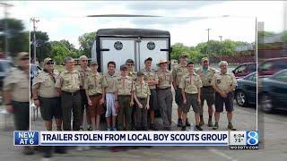 Brazen thieves snatch Boy Scouts' trailer from church lot