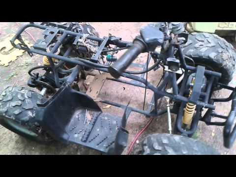 Mini quad 212 harbor fright motor the beginning