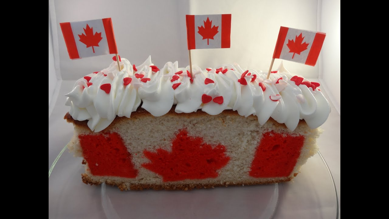 how to make a canadian flag cake for canada day with yoyomax12