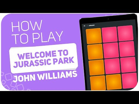 How to play: WELCOME TO JURASSIC PARK (John Williams) - SUPER PADS - Kit JURASSIC