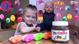 Кукла Беби Борн. Ярослава готовит шоколадное мороженое. Видео для детей. Doll Baby Born(Сегодня Повар Ярослава и Кукла Беби Борн будут готовить шоколадное мороженое. Встречайте новое видео с..., 2016-04-14T08:16:58.000Z)