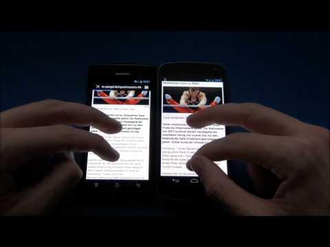 HUAWEI Ascend P1 vs Samsung Galaxy Nexus
