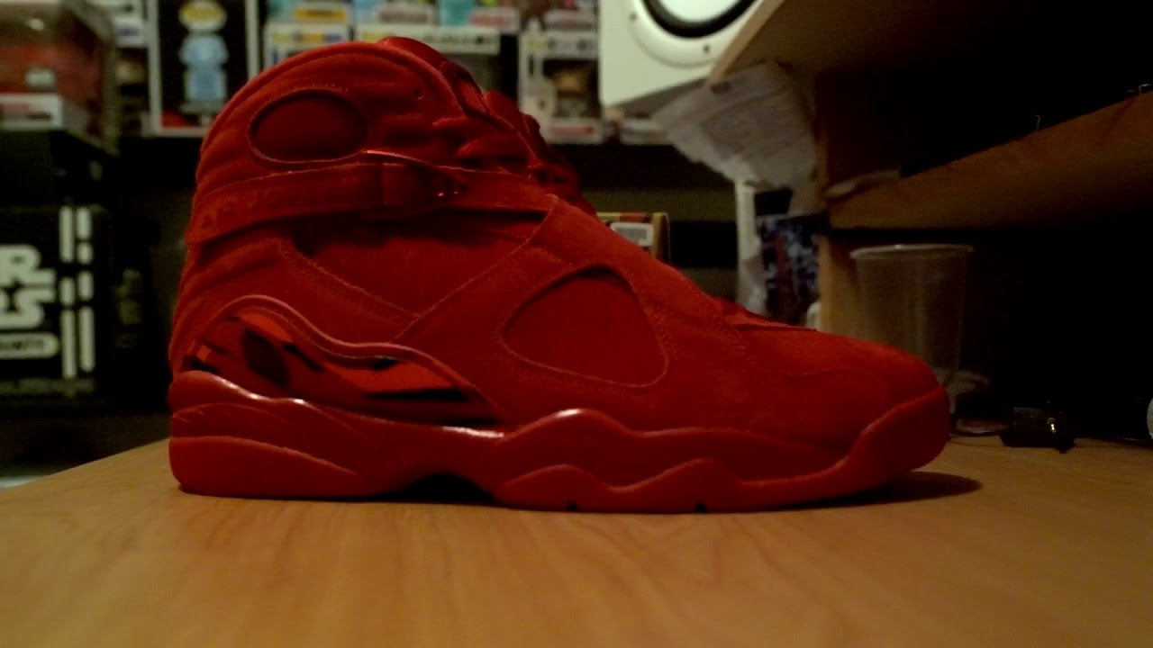 "955ac8a8bb4c3e Air Jordan 8 ""Valentine s Day"" - YouTube"