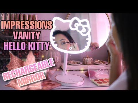 IMPRESSIONS VANITY HELLO KITTY RECHARGEABLE MIRROR (IS IT GOOD?) HELLO KITTY LED RECHARGEABLE MIRROR