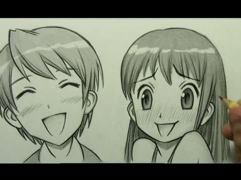 How to draw manga facial expressions joy embarrassment